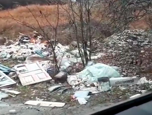 Стихийная свалка в окрестностях Железноводска попала на видео