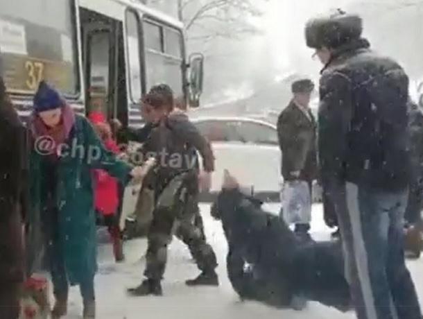 «Ледовый ад» в центре Ставрополя попал на видео