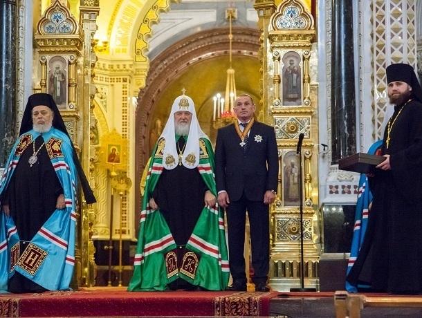 Патриарх Кирилл наградил Юрия Иванова орденом Даниила Московского второй степени