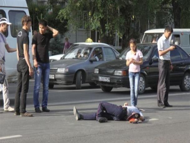 Лексус сбил инспектора ДПС наСтаврополье