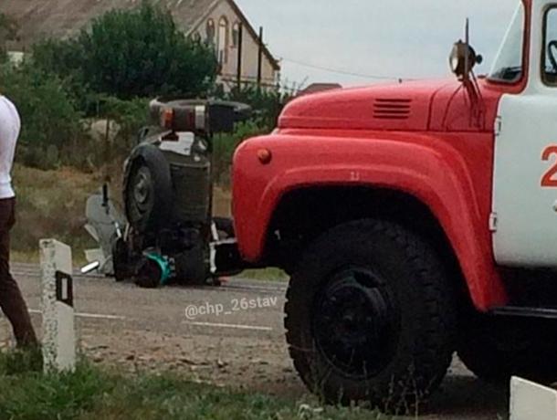 Мотоциклисту оторвало ногу в аварии на Ставрополье