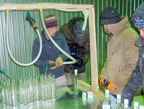 Подпольную фабрику по разливу водки и пива «накрыли» на Ставрополье