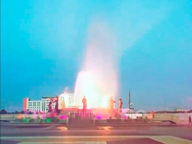 Первая репетиция поющего фонтана попала на видео в Ставрополе