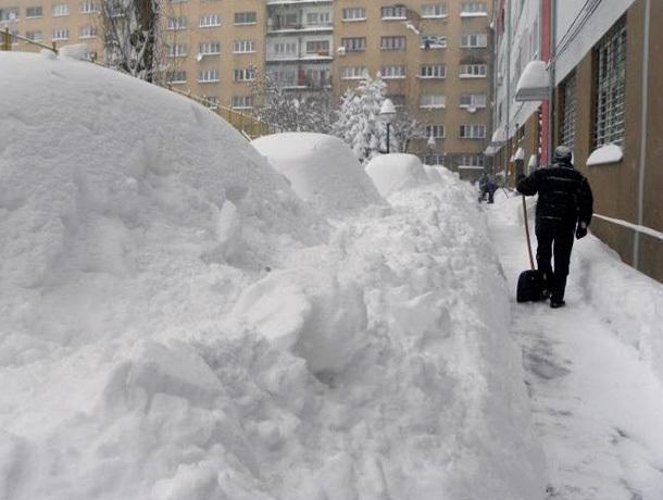 За снежные сугробы будут штрафовать в Ставрополе