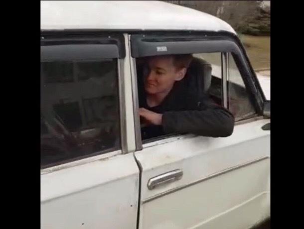 Водитель машины «задом наперед» привлечен к ответственности