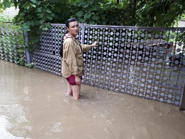 Появились кадры затопленных домов после прихода «большой воды» на Ставрополье