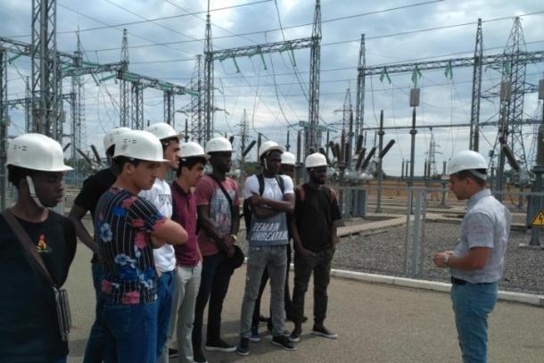 Студенты из Африки побывали на «Ставропольэнерго»