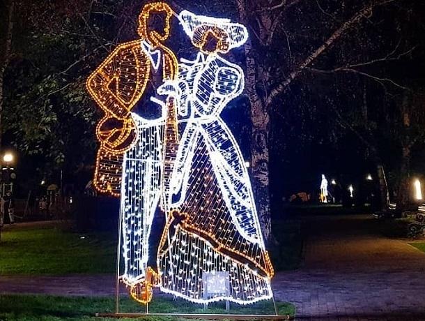 Новые светящиеся фигуры появились в Ставрополе