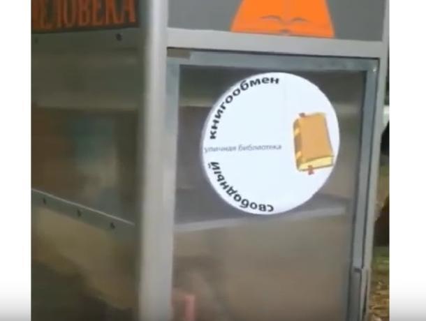Житель Невинномысска установил в парке книжный шкаф для буккроссинга