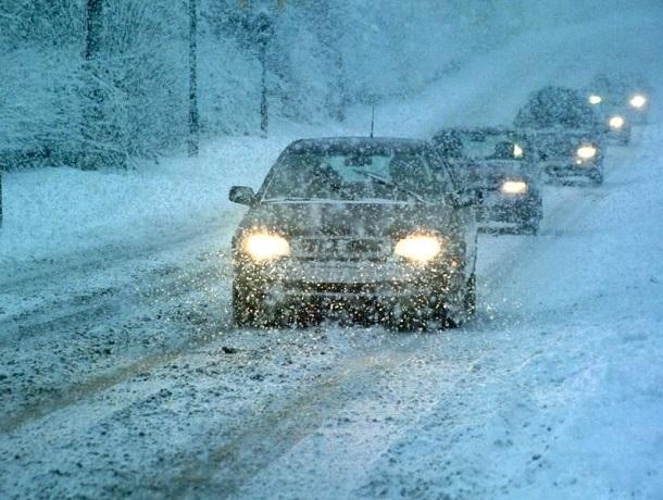 Трассу из Ставрополя к Минводам перекрыли из-за сильного снегопада