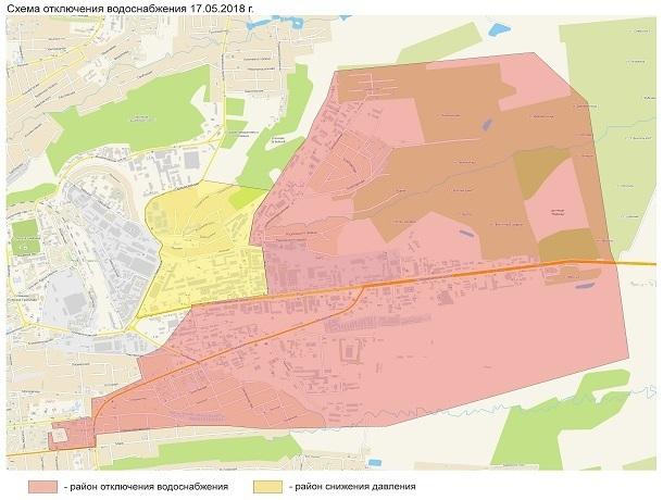 Несколько районов останутся без воды 17 мая в Ставрополе