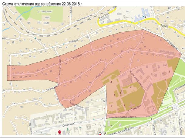Несколько улиц Октябрьского района останутся без воды в Ставрополе