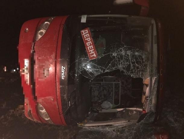 НаСтаврополье перевернулся рейсовый автобус, есть пострадавшие