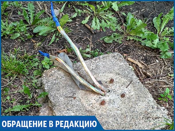 «Из-под земли торчат электропровода, рядом гуляют дети», - житель Ставрополя