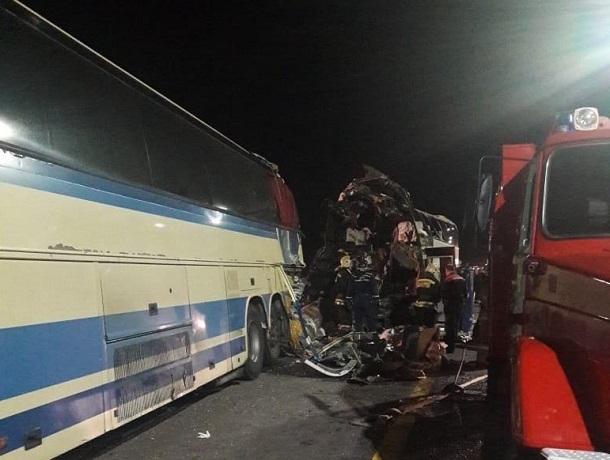 Появились подробности аварии в Воронежской области с участием ставропольского автобуса