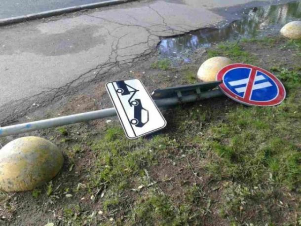 На Ставрополье мужчина пытался украсть дорожный знак