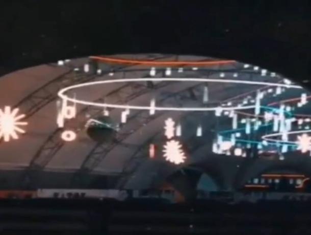 В сети появилось видео нового мерцающего катка в центре Ставрополя