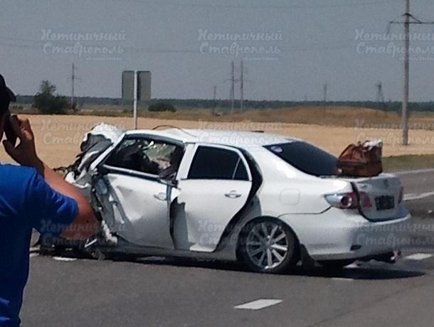 Страшная авария унесла жизни 3 человек на Ставрополье, - очевидцы