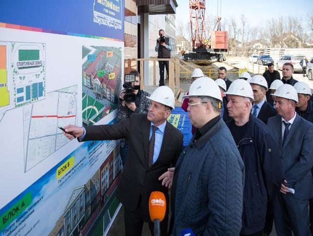 Глава Ставрополья оценил процесс строительства школы в жилкомплексе «Солнечный круг»