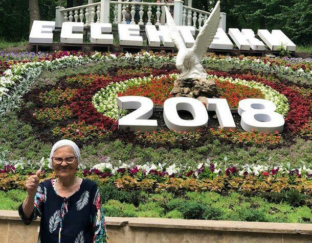 Известная путешественница Баба Лена побывала в Ессентуках