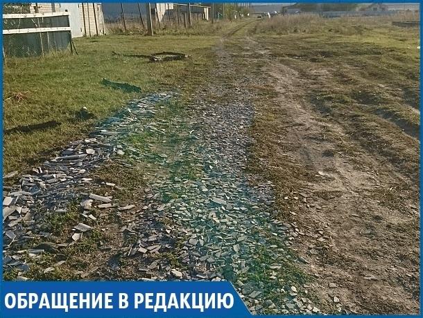 «Мы вынуждены засыпать ямы мусором, чтобы хоть как-то передвигаться по улицам», - жительница села на Ставрополье