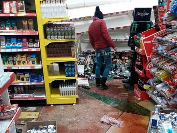 В супермаркете рухнули полки с алкоголем в Ставрополе