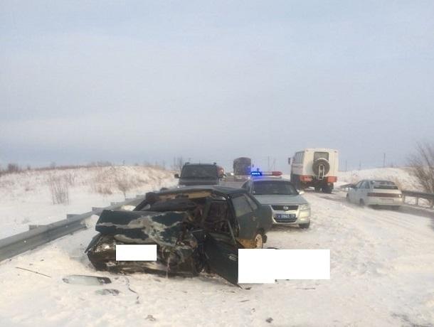 Водитель ВАЗа погиб в столкновении с «Матизом» на трассе в Ставропольском крае