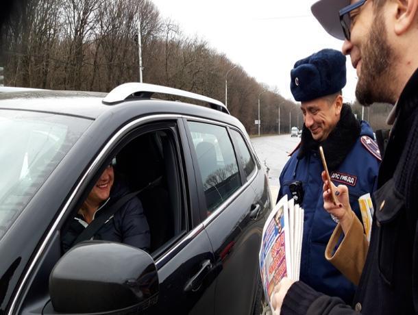 Необычную акцию провели сотрудники Госавтоинспекции в Ставрополе