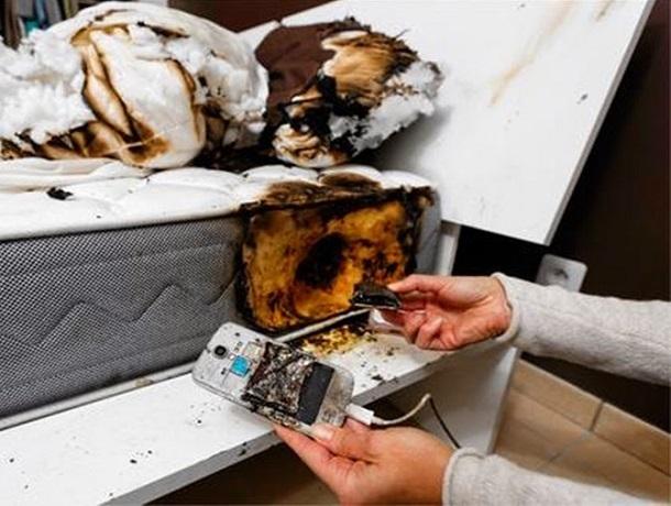 """«Смартфон взорвался на зарядке, а в фирме Samsung ничего плохого в этом не увидели"""", - ставрополец"""