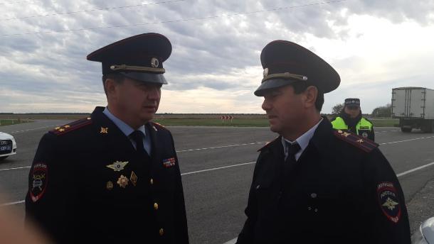 Главный автоинспектор Ставрополья Алексей Сафонов проверяет работу подразделений ГИБДД