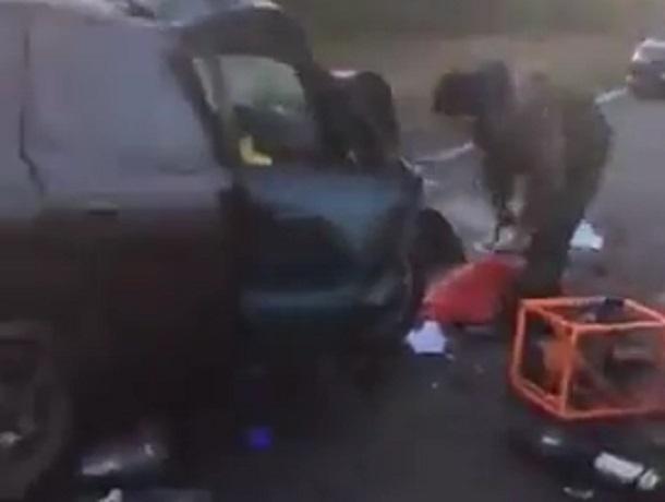 Появилось видео страшных подробностей ДТП с пятью погибшими на Ставрополье