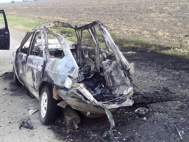 После техосмотра ужительницы Курского района взорвался автомобиль
