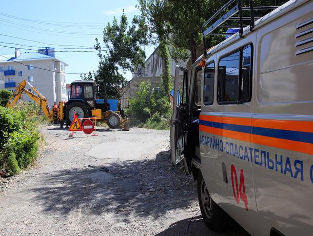 Бетоносмеситель сбил трубу газопровода наСтаврополье, едва невызвав серьезную трагедию
