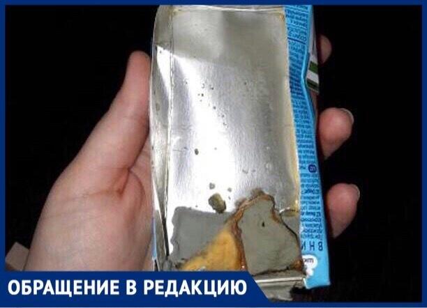 Жительница Ставрополя обнаружила на дне сока «Фруто няня» плесень