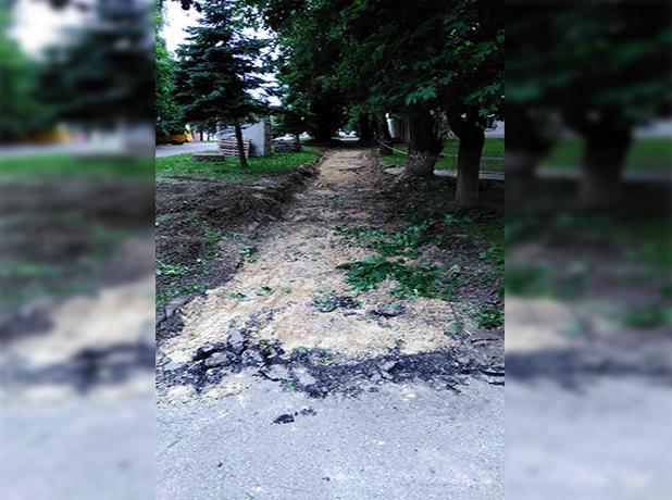 Бессмысленный ремонт тротуара в Ставрополе напоминает анекдот, - читатель «Блокнота»
