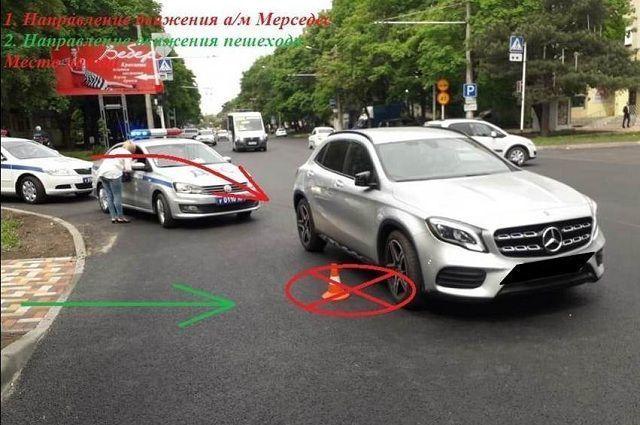 Ставропольчанка на Mercedes-Benz наехала на пятилетнюю девочку