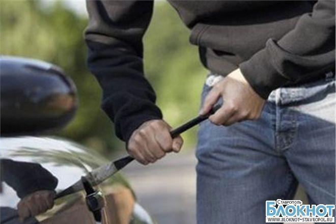На Ставрополье был задержан пьяный угонщик авто