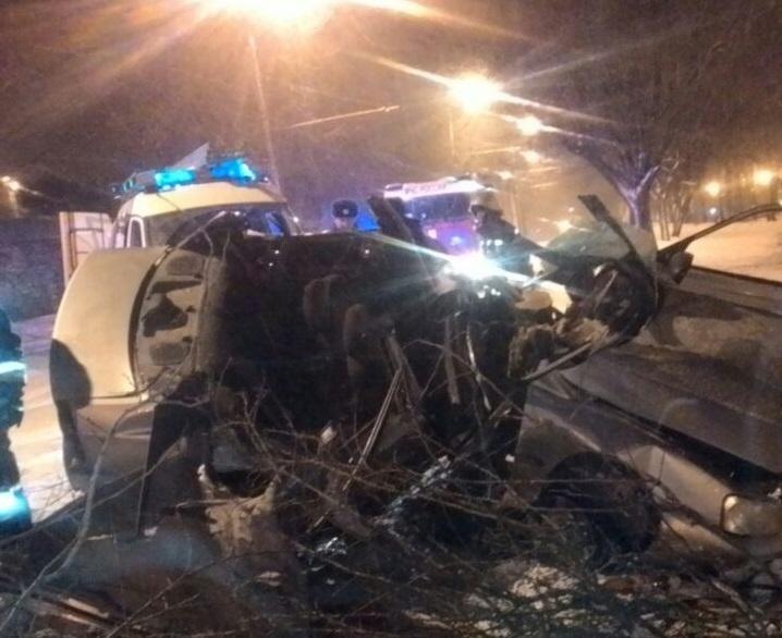 ВСтаврополе шофёр иномарки врезался вдерево и умер