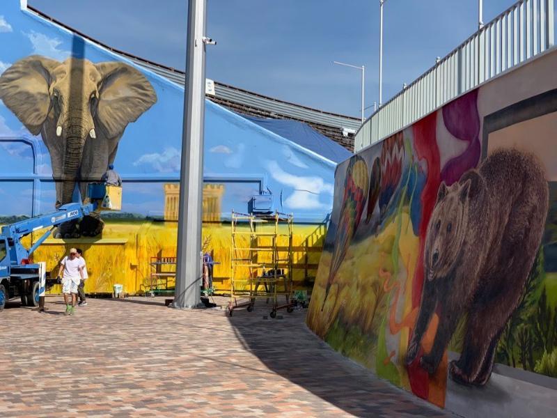 Стадион «Динамо» в Ставрополе украсили красочными граффити