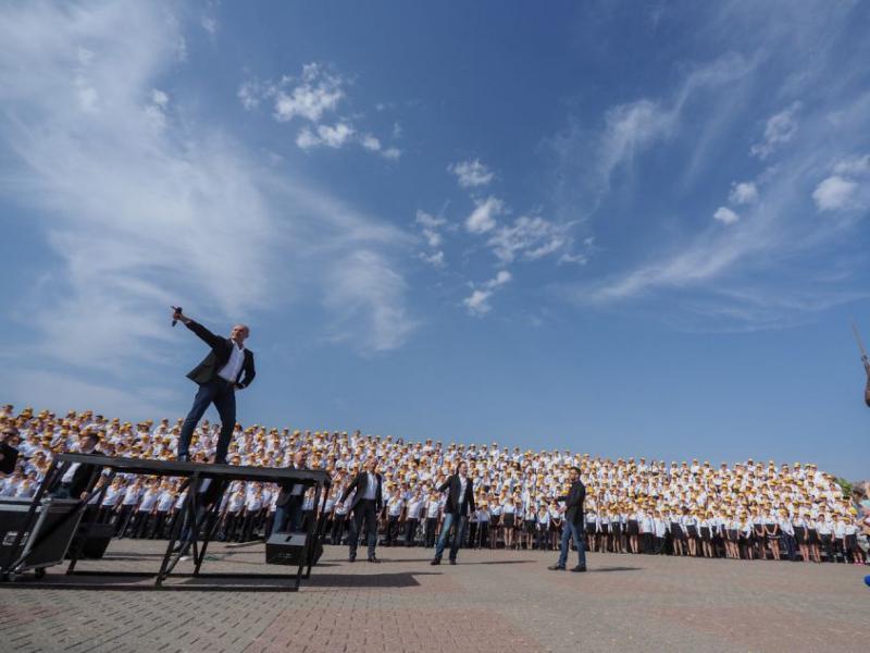 Тысячеголосый детский хор выступил на Крепостной горе в Ставрополе