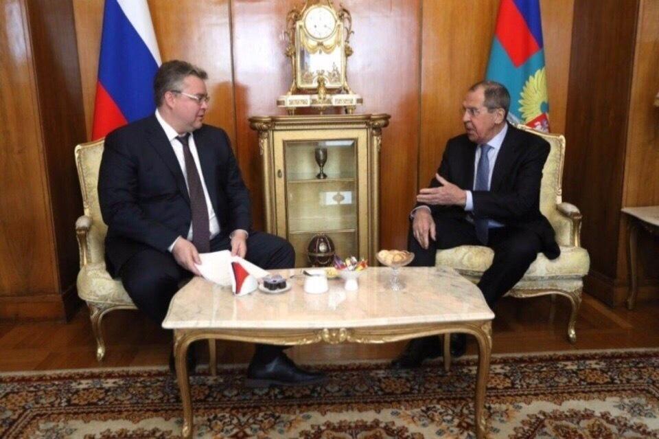 Губернатор Ставрополья встретился с министром иностранных дел России
