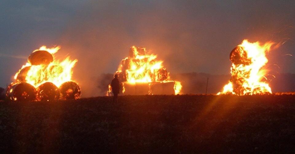На Ставрополье завершено расследование дела об умышленном поджоге семи рулонов сена