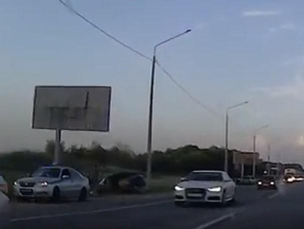 Две «десятки» столкнулись лоб в лоб на подъезде к Ставрополю