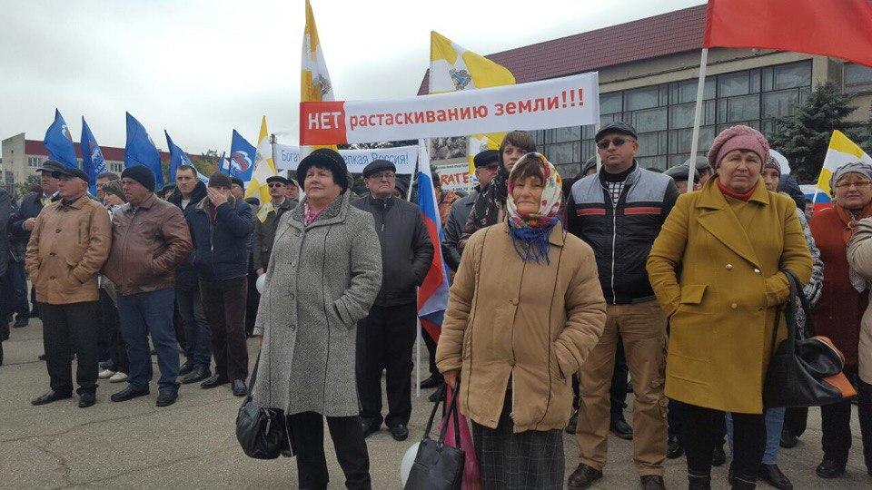 ВСветлограде здешние аграрии вышли намитинг взащиту села